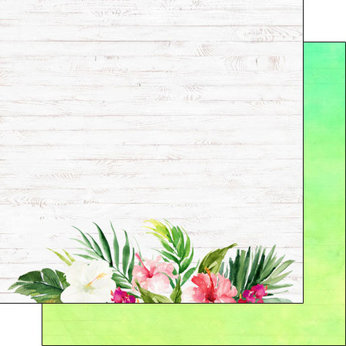 Vacay Collection Scrapbook Paper Companion Kit - 13 Double-Sided 12 x 12 Scrapbook Papers & 2 Cut Out Scrapbook Sheets by Scrapbook Customs
