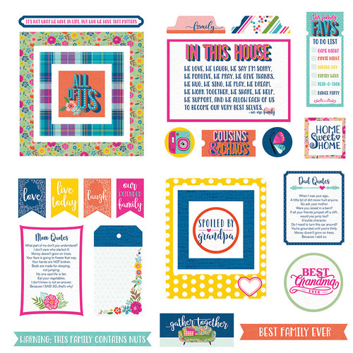 Wicker Lane Collection 5 x 5 Die Cut Scrapbook Embellishments by Photo Play Paper