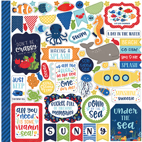 Under The Sea Collection 12 x 12 Scrapbook Pagekit by Echo Park Paper - 13 Pieces