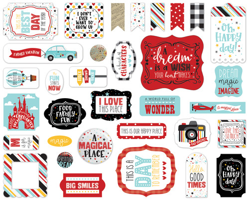 A Magical Place Collection 5 x 5 Scrapbook Ephemera Die Cuts by Echo Park Paper