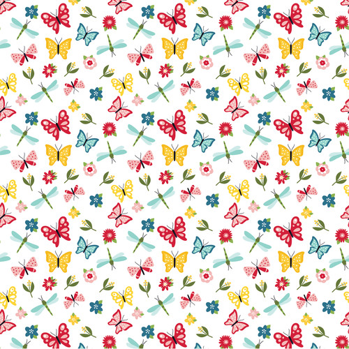 Slice of Summer Collection 3X4 Journaling Cards 12 x 12 Double-Sided Scrapbook Paper by Echo Park Paper