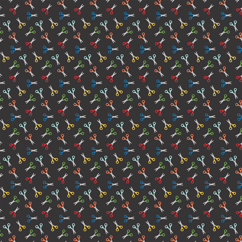 I Love School Collection Crayons 12 x 12 Double-Sided Scrapbook Paper by Echo Park Paper
