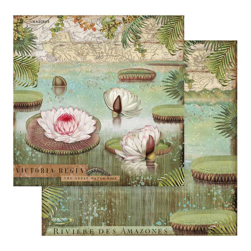 Amazonia Collection 12 x 12 Scrapbook Paper Pack by Stamperia