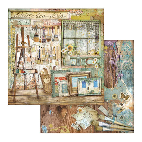 Atelier Des Arts Collection 12 x 12 Scrapbook Paper Pad by Stamperia
