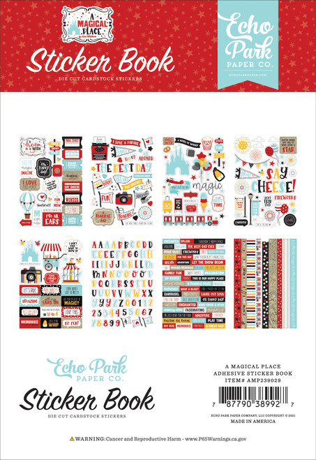 A Magical Place Collection Sticker Book by Echo Park Paper-16 Pages