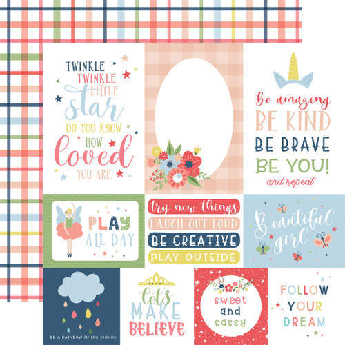 Little Dreamer Girl Collection 12 x 12 Collection Kit by Echo Park Paper - 13 Pieces