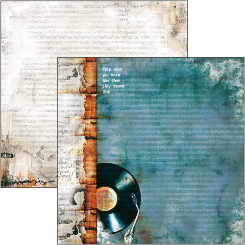Blue Note Collection 12 x 12 Scrapbook Paper Pack by Ciao Bella - 12 Papers