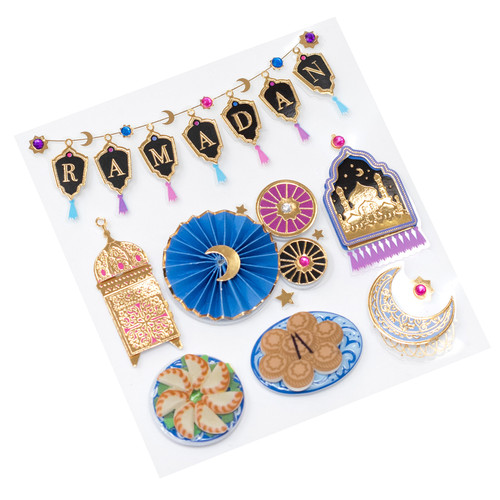 Holiday Collection Ramadan 4 x 4.5 Scrapbook Embellishment by Jolee's Boutique