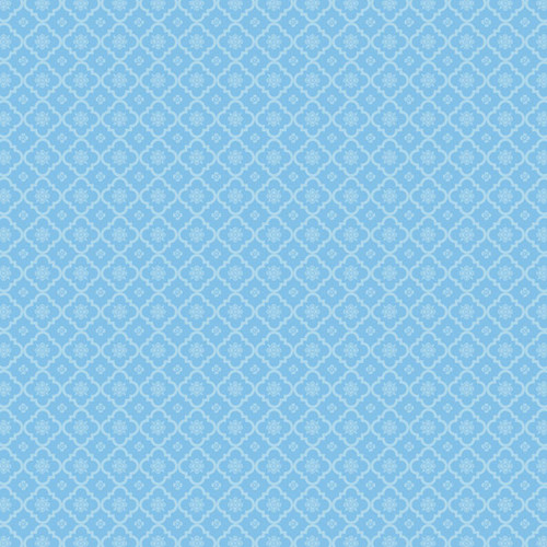 Magical Day of Fun Collection Blue Princess 12 x 12 Double-Sided Scrapbook Paper by Scrapbook Customs