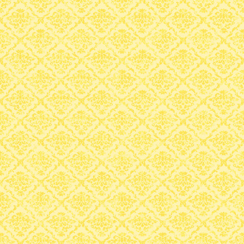Magical Day of Fun Collection Yellow Princess 12 x 12 Double-Sided Scrapbook Paper by Scrapbook Customs