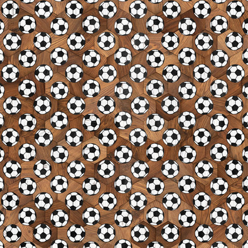 Wood Sports Collection Soccer Brown Wood 12 x 12 Double-Sided Scrapbook Paper by Scrapbook Customs