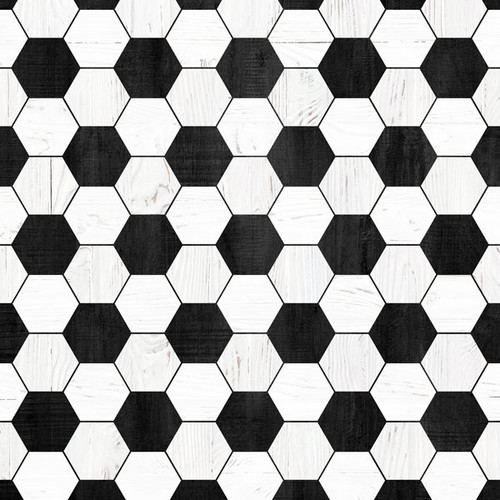 Wood Sports Collection Soccer White Wood 12 x 12 Double-Sided Scrapbook Paper by Scrapbook Customs