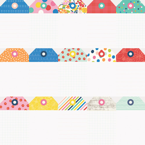 Sunkissed Collection Tags 12 x 12 Double-Sided Scrapbook Paper by Simple Stories