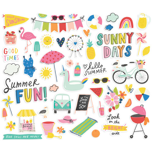 Sunkissed Collection Bits & Pieces Die Cut Cardstock Pieces by Simple Stories