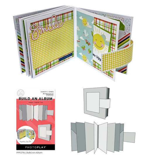 Maker's Series Collection Build An Album by Photo Play Paper.  Kit makes one 6 x 6 hinged album with 6 pocket pages