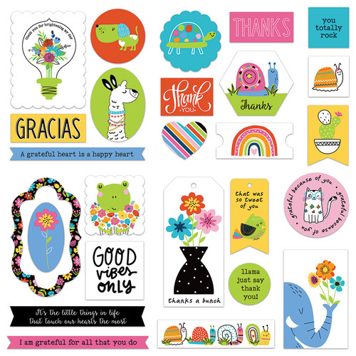 Snail Mail Collection 5 x 5 Die Cut Scrapbook Embellishments by Photo Play Paper
