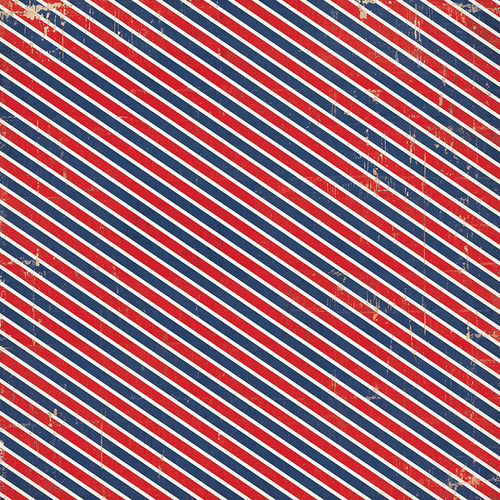 America The Beautiful Collection Land Of The Free 12 x 12 Double-Sided Scrapbook Paper by Photo Play Paper