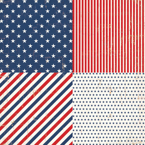America The Beautiful Collection Old Glory 12 x 12 Double-Sided Scrapbook Paper by Photo Play Paper