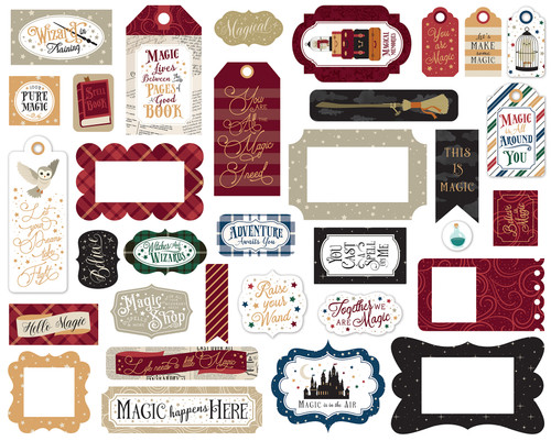 Witches and Wizards No. 2 Collection 5 x 5 Scrapbook Tags & Frames Die Cuts by Echo Park Paper