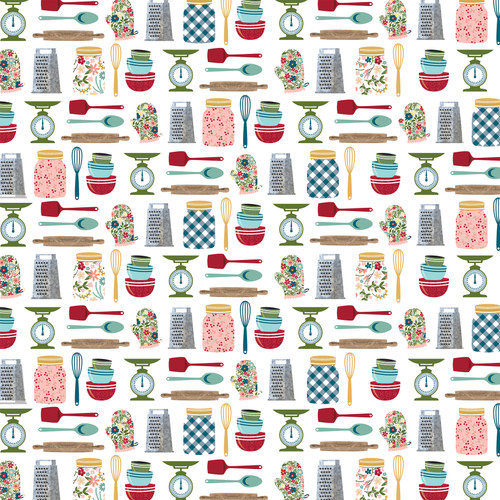 Farmer's Market Collection 4 x 4 Journaling Cards 12 x 12 Double-Sided Scrapbook Paper by Echo Park Paper