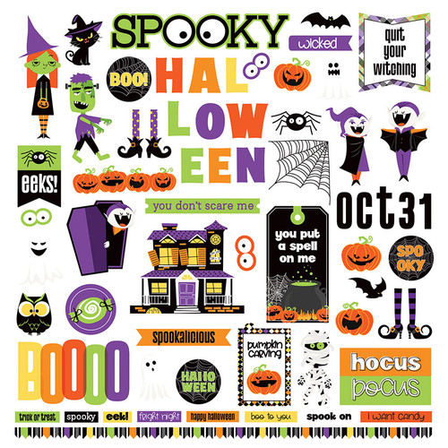 Monster Mash Collection 12 x 12 Paper & Sticker Collection Pack by Photo Play Paper