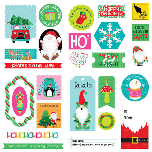 Tulla & Norbert's Christmas Party Collection 5 x 5 Die Cut Scrapbook Embellishments by Photo Play Paper