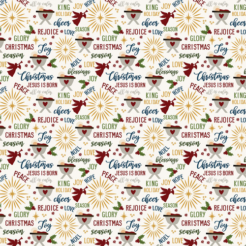 The First Noel Collection Starry Night 12 x 12 Double-Sided Scrapbook Paper by Echo Park Paper