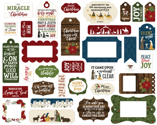 The First Noel Collection 5 x 5 Scrapbook Tags & Frames Die Cuts by Echo Park Paper
