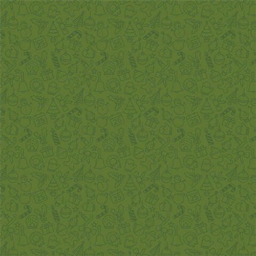 Christmas Magic Collection Red Nosed Reindeer 12 x 12 Double-Sided Scrapbook Paper by Echo Park Paper