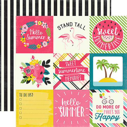 Summer Fun 13-Piece Collection Kit by Echo Park Paper-12 Papers, 1 Sticker