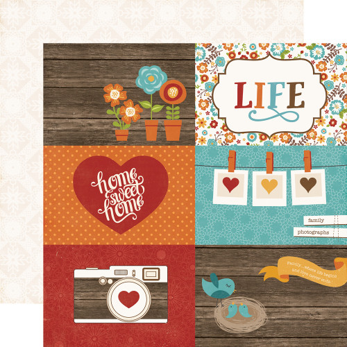 I Love Family Collection 13-Piece Collection Kit by Echo Park Paper-12 Papers, 1 Sticker