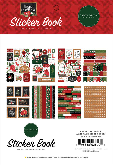 Happy Christmas Collection Sticker Book by Carta Bella Paper-16 pages