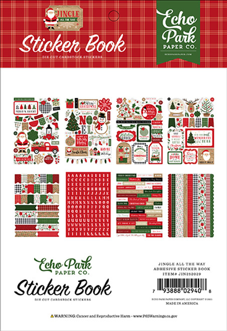 Jingle all the Way Collection Sticker Book by Echo Park Paper - 16 pages