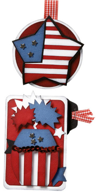 Patriotic 4th July Embellishment by Just Jinger