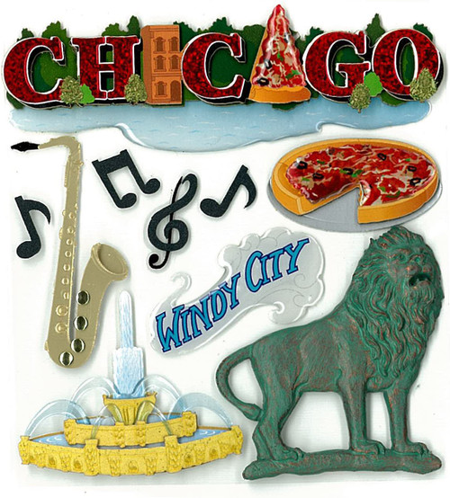 Chicago Dimensional Embellishment by Jolee's Boutique
