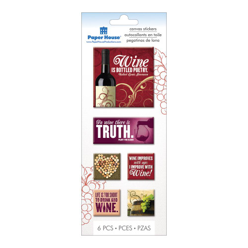 Wine Collection 4 x 8 Wine Scrapbook Canvas Embellishments by Paper House Production