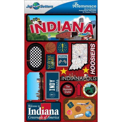 Jetsetters Collection Indiana 5 x 8 Scrapbook Embellishment by Reminisce
