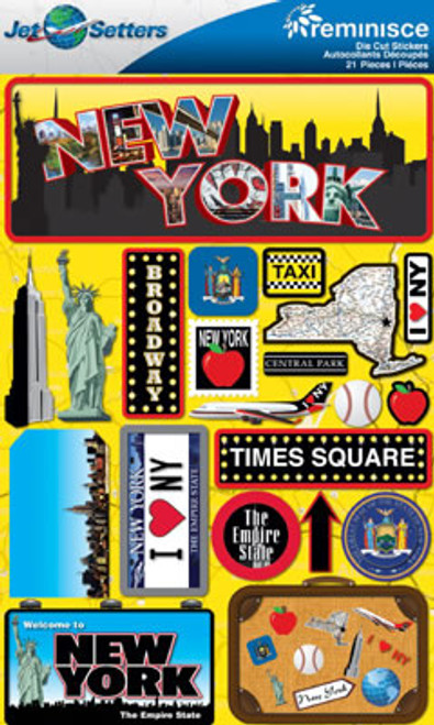 Jetsetter Collection New York 5 x 7 Scrapbook Embellishment by Reminisce