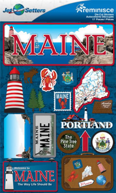 Jetsetters Collection Maine 5 x 7 State Scrapbook Embellishment by Reminisce