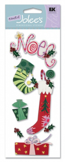Christmas Stockings Scrapbook Embellishment by EK Success by A Touch of Jolee's