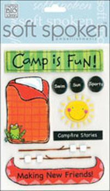 Camp Is Fun Soft Spoken Embellishment by Me & My Big Ideas