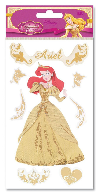 Disney Enchanted Tales Collection Gold Ariel Scrapbook Embellishment by EK Success