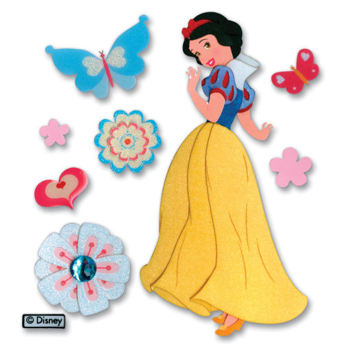 Disney Snow White Collection Snow White and Butterflies Scrapbook Embellishment by EK Success