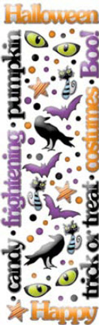 Halloween Fun Collection Rain Dots Words & Shapes by Cloud 9 Design