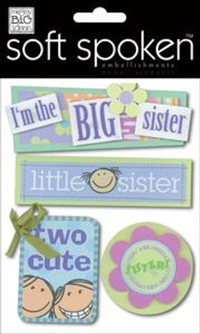 A Kid's Sister Soft Spoken Embellishment by Me & My Big Ideas