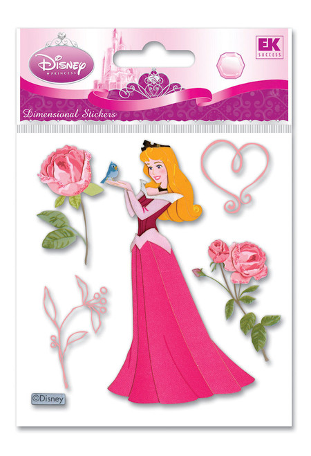 Disney Sleeping Beauty Collection Princess Aurora with Roses Scrapbook Embellishment by EK Success