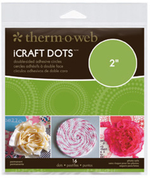 """iCraft Adhesive Dots by Therm-O-Web (2"""" - Pkg. of 16)"""