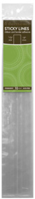 """Sticky Lines Ribbon & Border Adhesive by Therm-O-Web- 1/2"""" x 12 """" - 10 Lines"""