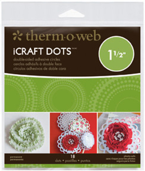 """iCraft Adhesive Permanent Craft Dots by Therm-o-Web (18 - 1 1/2"""" dots)"""
