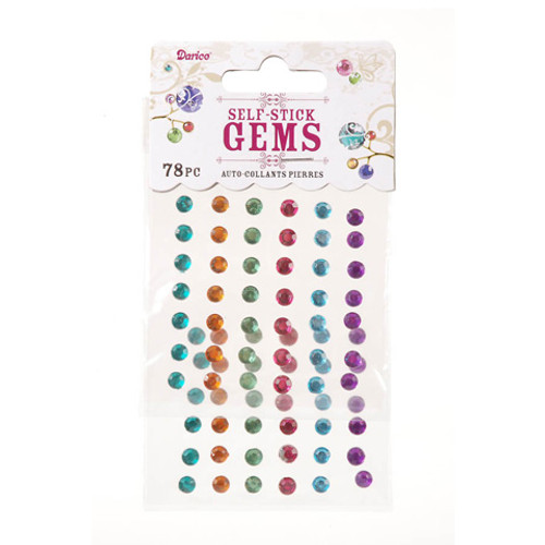 Vibrant Multicolor 5mm Self-Stick Gems by Darice - Pkg. of 78